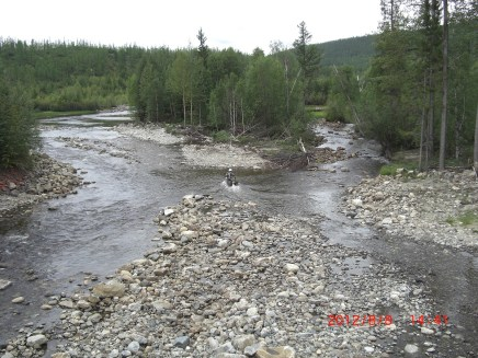 Kev BAM river crossing.