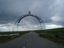 Sign just after entering Mongolia.