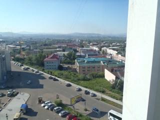 Ulan Ude hotel window view.