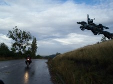 Road to L'viv monument.