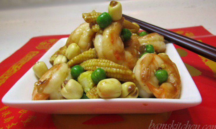 Lucky shrimps and Lotus Seeds - Bam's Kitchen