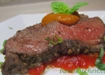 Caramelised Red Pepper Pesto Steak