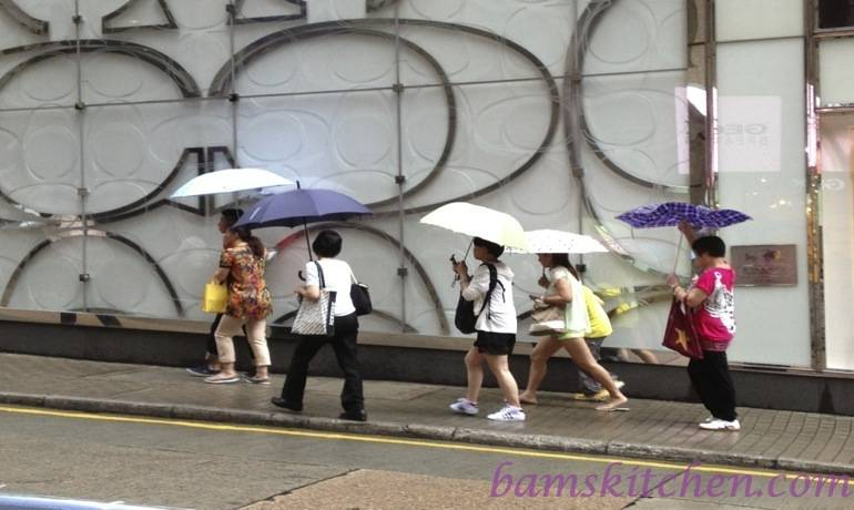 Raining in HK