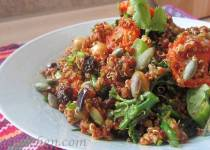 Warmed Spiced Quinoa with Roasted Autumn Vegetables