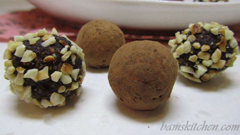 Chocolate figgy truffles