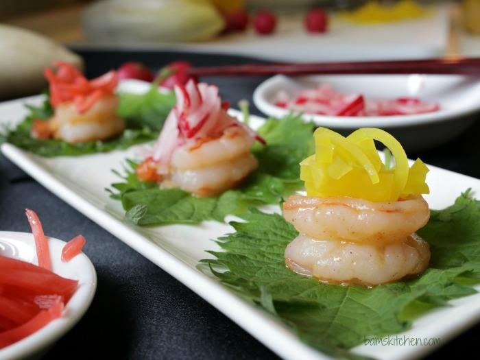 Shrimp Boats with Pickled Radish-Bam's Kitchen