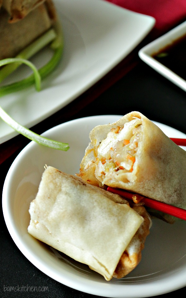 Baked Chinese Spring Rolls - Bam's Kitchen