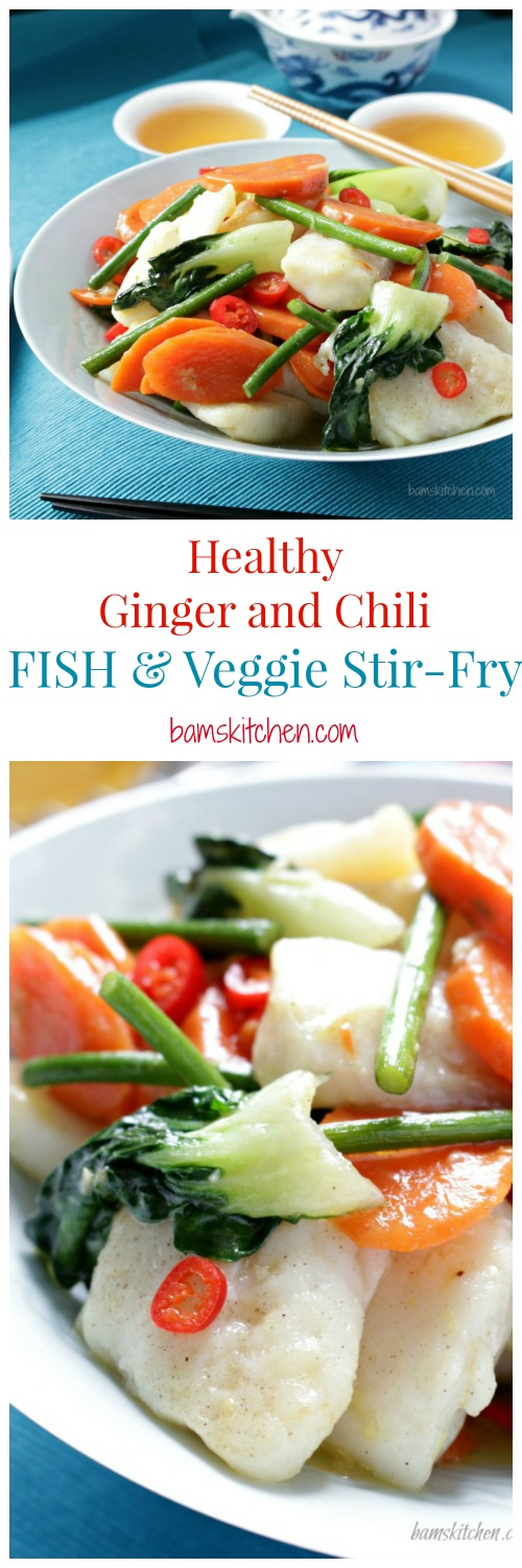 Healthy Ginger and Chili Fish/ http://bamskitchen.com