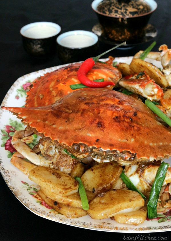 Stir Fried Flower Crab with Chinese New Year Cake- Bam's Kitchen