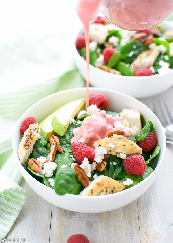 Spinach Salad with Raspberry Vinaigrette / Cooking LSL