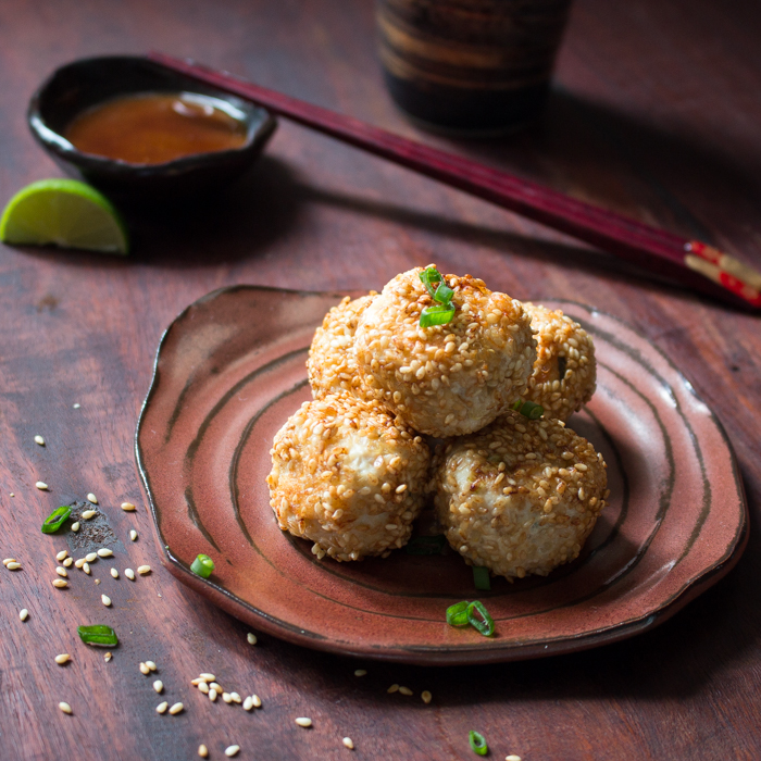 Sesame Miso Chicken Meatballs / http://bamskitchen.com