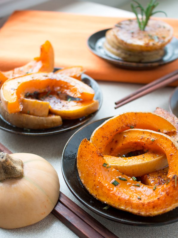 Spicy Rosemary Butternut Squash / http://bamskitchen.com