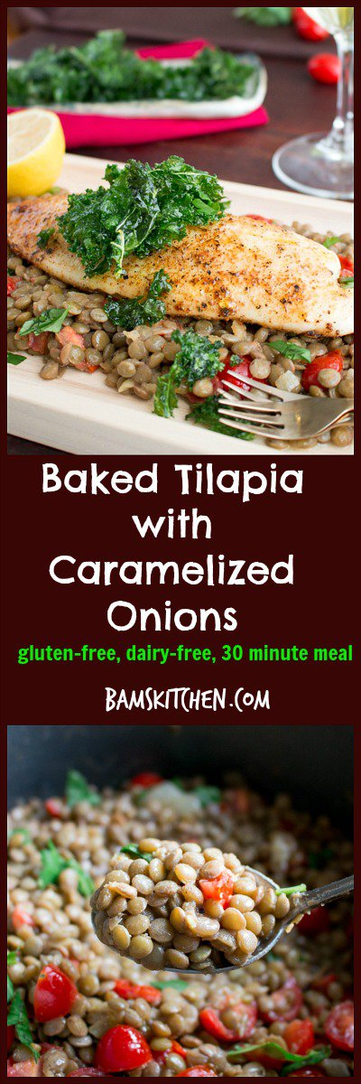 Baked Tilapia with Caramelized Onions / http://bamskitchen.com