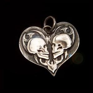 True Love Double Skull Front