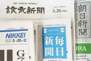 日本国内の全国紙の題字