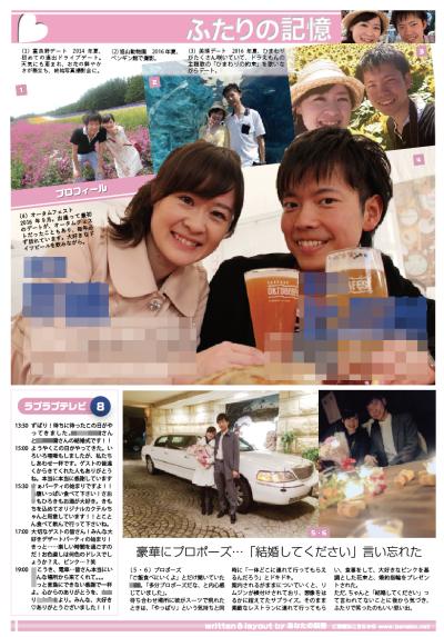 スポーツ新聞風の結婚新聞(裏面)