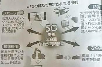 5Gの普及で想定される活用例