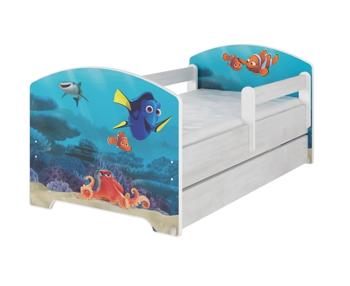 Nemo Bettwäsche Baby Bett Se Barriere - Dory A Nemo - Dekor Norwegisch Kiefer - Banaby.at