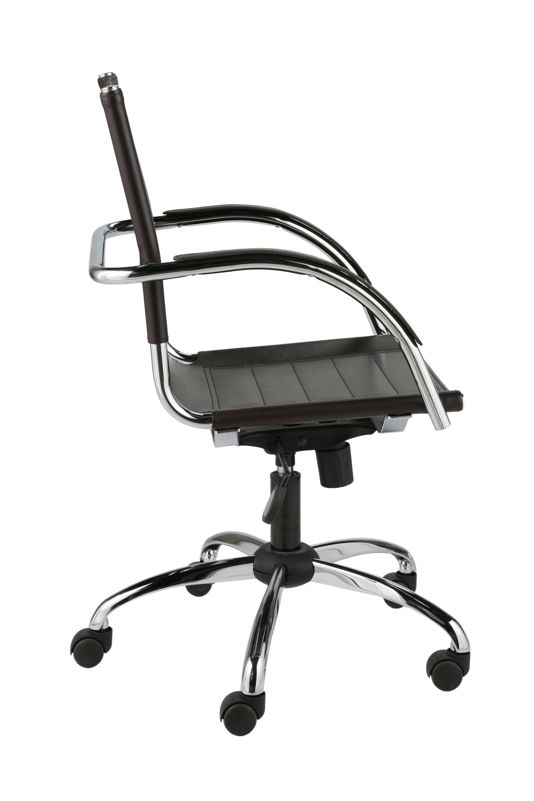 Genuine Leather Office Chair Dave Office Chair 00402brn Genuine Italian Leather Bana