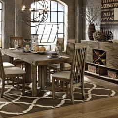 Dining Room Sets 6 Chairs Swing Chair Graco Adler 7pc Rectangular Solid Acacia Set Table