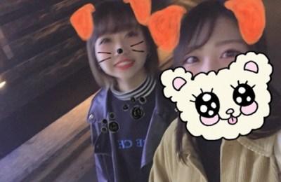 新橋いちゃキャバ・JK制服キャバクラ【ハイスクールbanana】 れん 友達のみなちゃんと写真