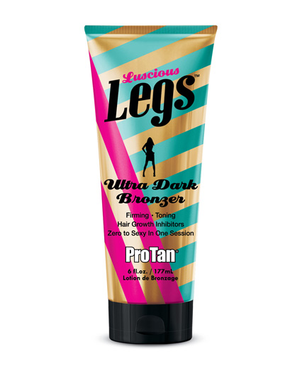 luscious-legs ultra dark bronzer with firming toning and hair reduction technology tanning lotion from pro tan