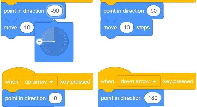 Scratch 3.0 – Diferentes formas de mover un objeto con teclas [Tutorial]