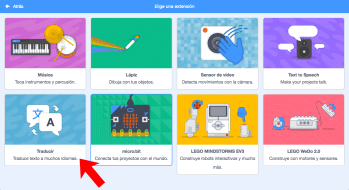 Extensiones en Scratch 3.0