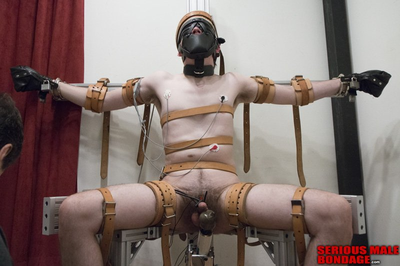 Dart_Tech is tied up and teased  Serious Male Bondage