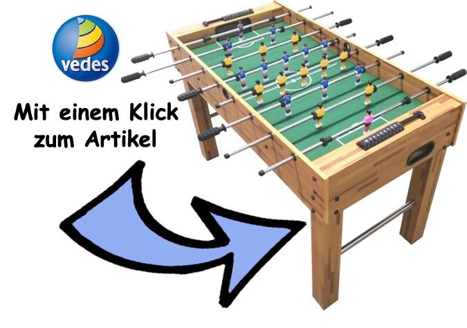 Kommt mit einem Klick zum Kinder Kicker Tisch bei VEDES