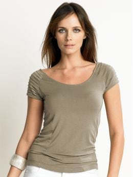 Raglan-sleeve machine washable modal top from Banana Republic, on sale now!