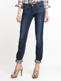 Women: Classic dark wash skinny jean - Vintage true blue wash