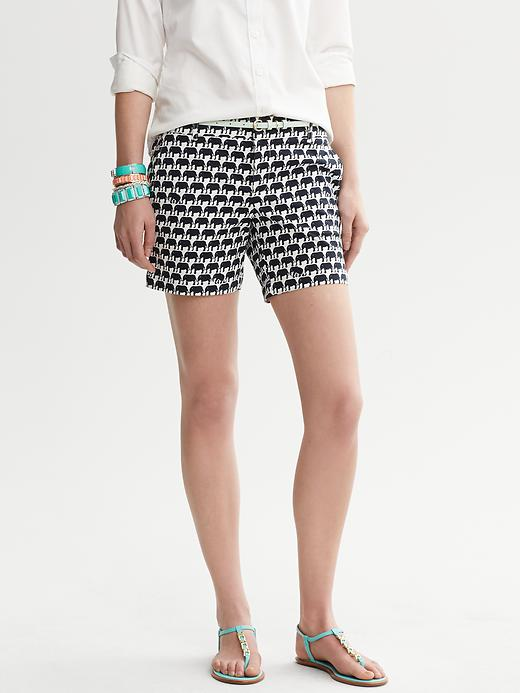 Banana Republic Milly Collection Elephant Print Short