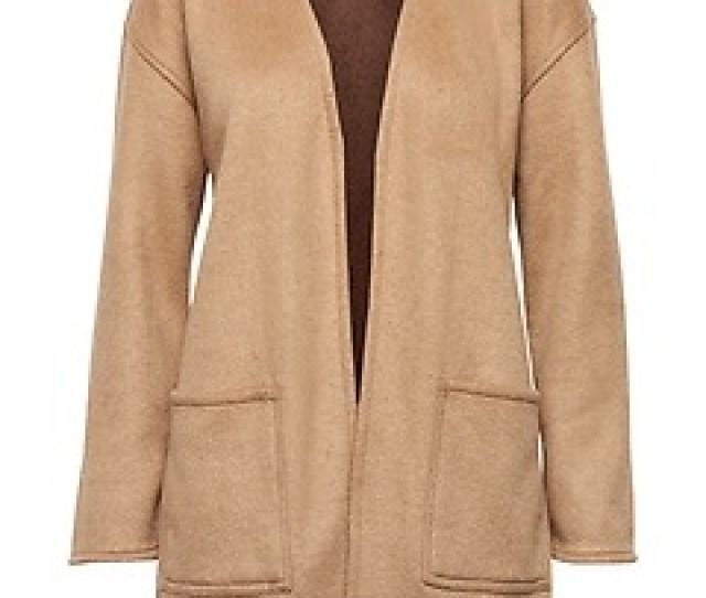 Reversible Stretch Wool Blend Coat