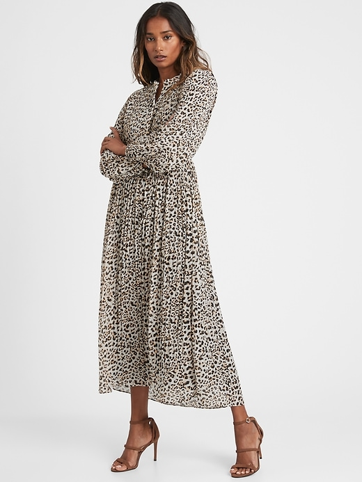 Petite Pleated Midi Shirt Dress