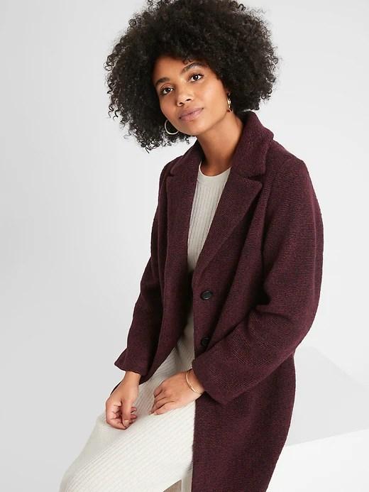 Knit Wool Overcoat