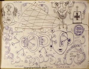"""IL MIO VIAGGIO ALLE SEYCHELLES"" - (b)ananartista orgasmo SBUFF - drawing on paper - http://www.bananartista.com"
