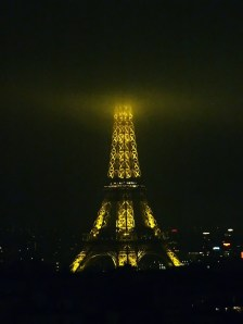 Our Ms. Eiffel enshrouded in the fog.