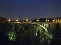 The Adolphe Bridge at night.