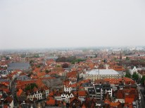 The Bruges skyline, with a myriad of old houses. Something similar could be seen of Paris from Montmartre.