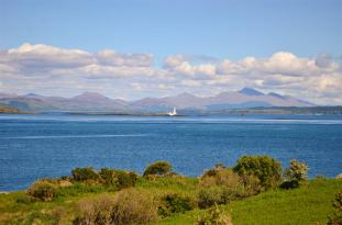 Lighthouse on Lismore in a distance
