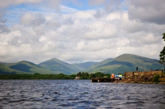 Mountains from Loch Lomond