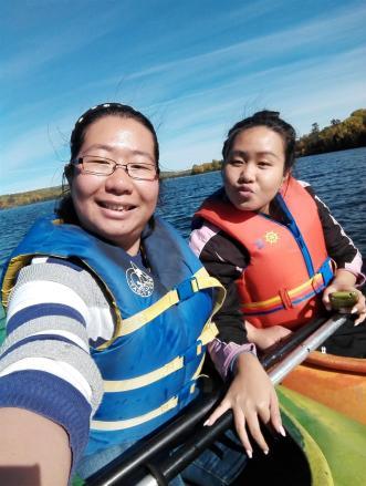 Canoeing selfie!