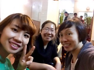 Annie and May with food tour guide Chili