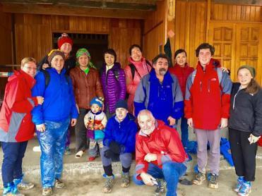 Sapa trekking team at homestay in Ta Van