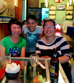 May and Annie with restaurant owner Minh in Hoi An