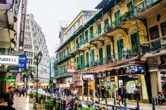 Portuguese-style architecture on Macau Peninsula