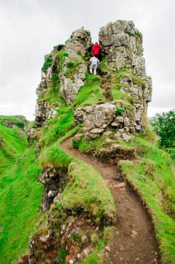 Climbing Castle Ewen at the Fairy Glen