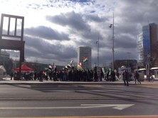 Demonstrations outside Palais des Nations in Geneva