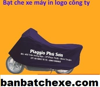 Bạt che xe máy in logo công ty